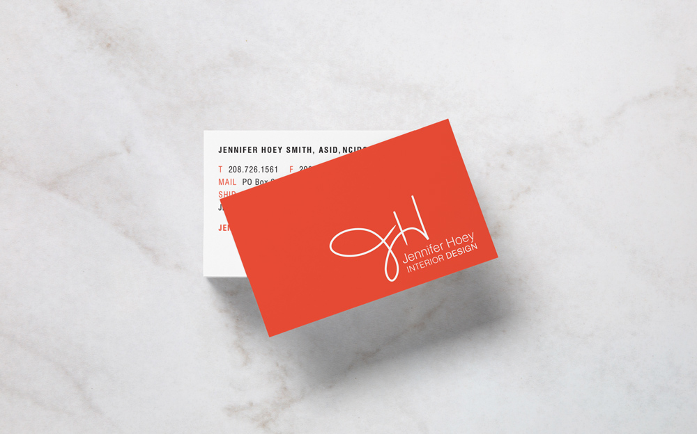 Jennifer Hoey Interior design identity materials