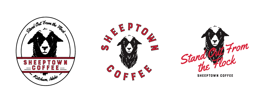 Sheeptown Coffee Logo Variations