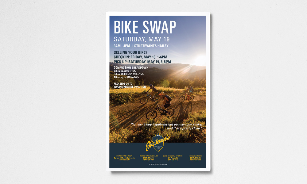 Sturtevants Bike Swap Poster