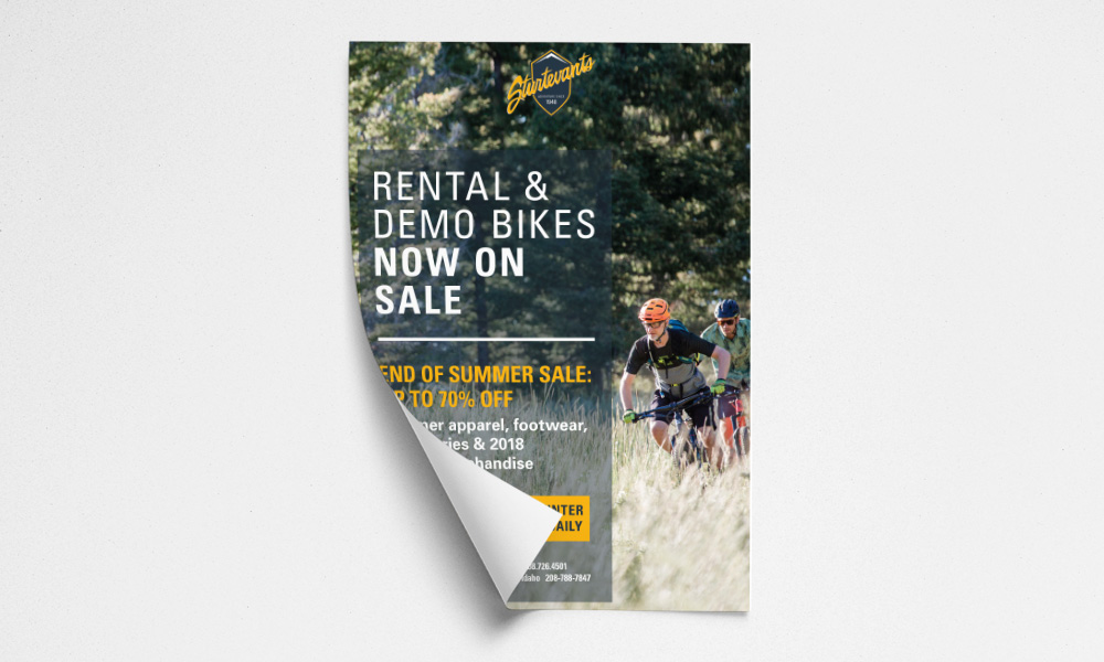 Sturtevants Rental Bikes Poster