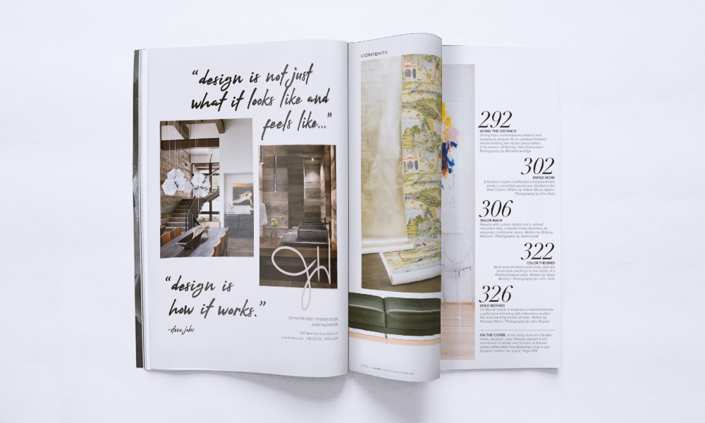 Jennifer Hoey Interior design print advertisement