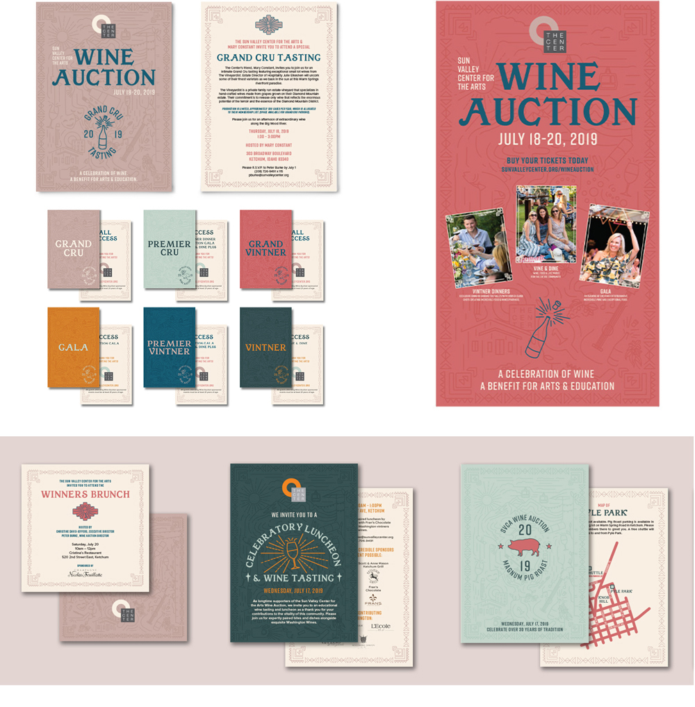 Sun Valley Center For The Arts Wine Auction Print Materials
