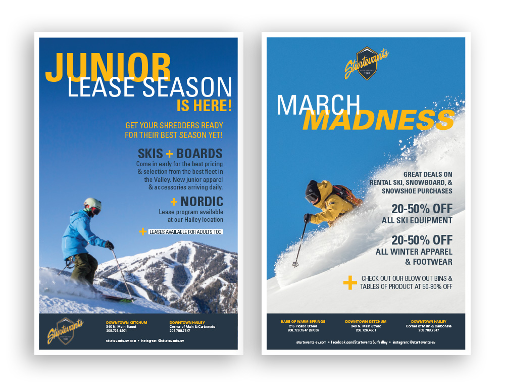 Sturtevants Print Media - Junior Lease and March Madness Poster